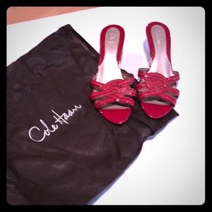 Cole Haan Red patent leather dress sandals